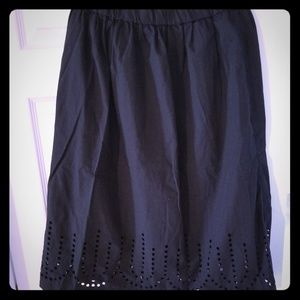 Gap Flare Skirt w/keyholes & POCKETS!